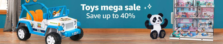 Toys mega sale. Save up to 40%.