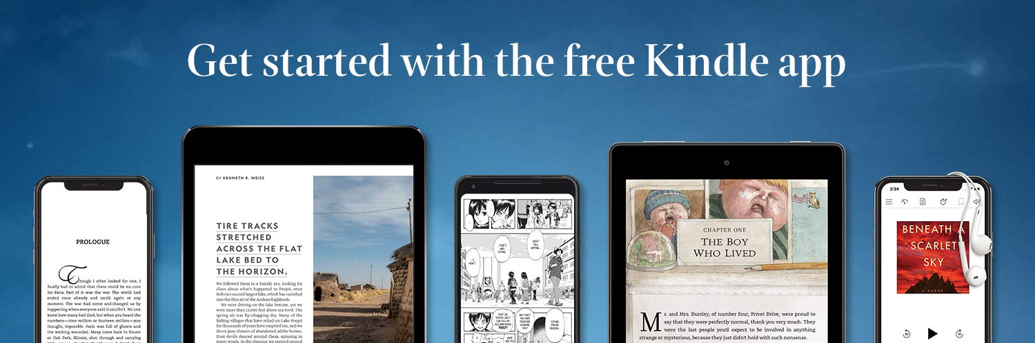 Get started with the free Kindle app. Image of Kindle app on iPhone, Android phone, iPads, and Android tablets.