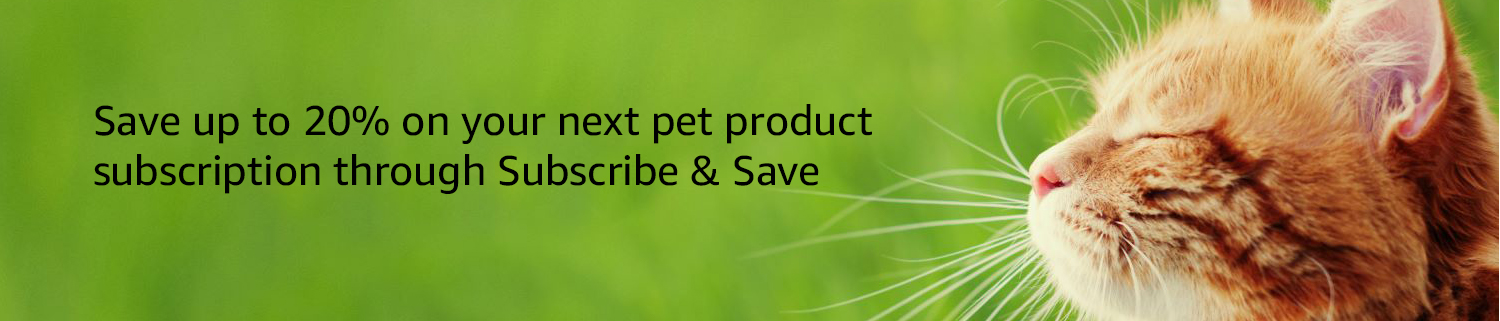 Save 10% on your next pet product subscription through Subscribe & Save