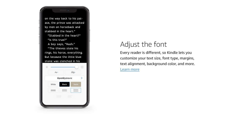 Adjust the font.