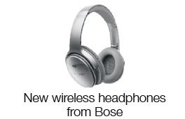 New wireless headphones from Bose