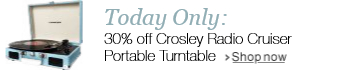 30% off Crosley Radio Cruiser Portable Turntable