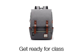 Get ready for class with Back to University