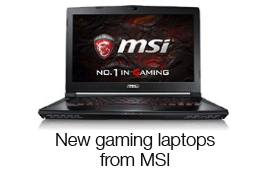 New gaming laptops from MIS