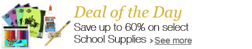 Deal of the Day: Save up to 60% on select School Supplies