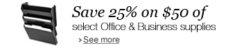 Save 25% off on $50 of select Office and Business supplies