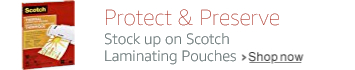 Stock up on Scotch laminating pouches