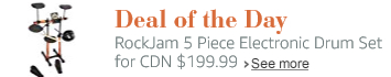 Deal of the Day: RockJam 5 Piece Electronic Drum Set for CDN$ 199.99