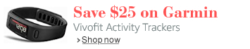 Save $25 on Garmin Vivofit Activity Trackers