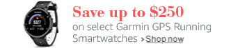 Save up to $250 on Garmin GPS Smarwatches