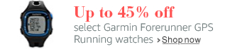 Save up to 45% on select Garmin Forerunner running watches