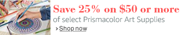 Save 25% on $50 or more of select Prismacolor Art Supplies