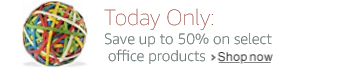 Today Only: Save up to 50% on select office products
