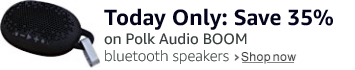 Today only Polk Audio BOOM $34.99