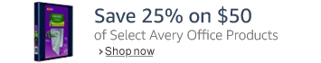 Save 25% on $50 or More of Select Avery Office Products