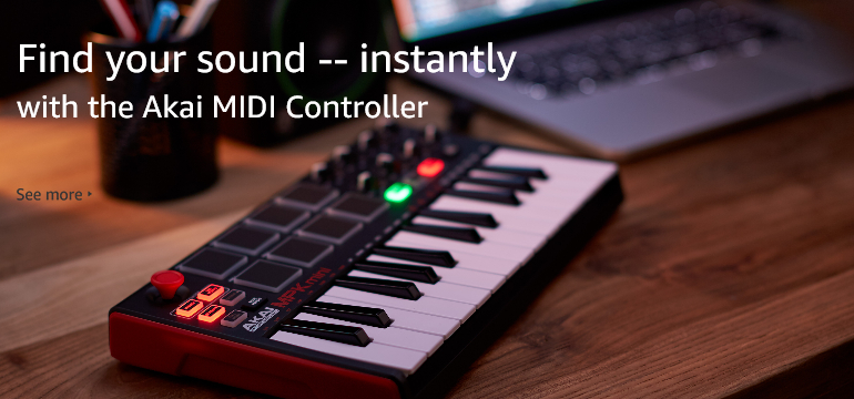 Find your sound -- instantly with the Akai MIDI Controller