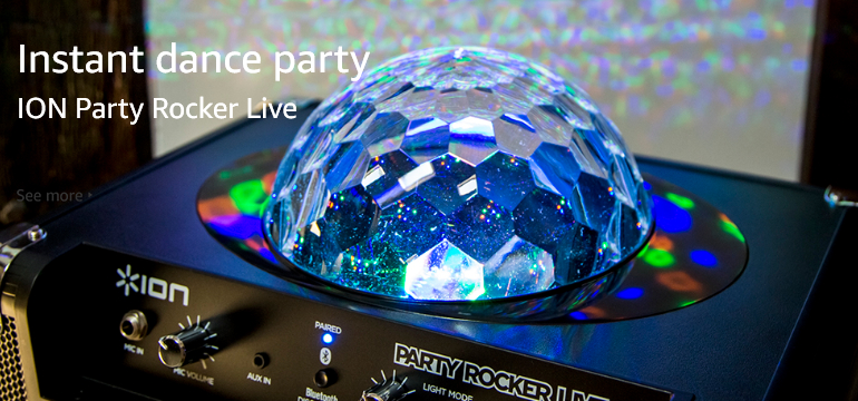 Instant Dance party with ION Party Rocker Live