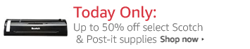 Today Only: Up to 50% off select office supplies