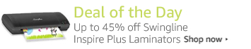 Today Only: Up to 40% of Swingline Inspire Plus Laminators