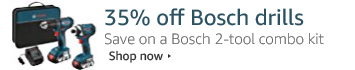 35% Off Bosch 18-Volt 2-Tool Combo Kit