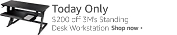Today Only: $200 off the 3M Standing Desk Workstation