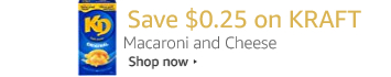 Save $0.25 on Kraft Macaroni and Cheese