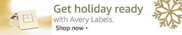 Get holiday ready with Avery labels