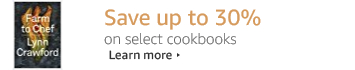 Save up to 30% on select cookbooks