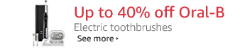 Up to 40% off Oral-B electric toothbrushes