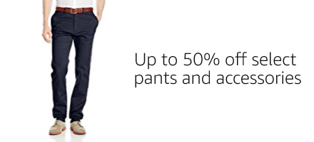 Up to 50% off select pants and accessories