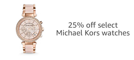 25% off select Michael Kors watches