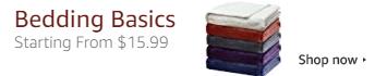 Bedding Basics Starting from $15.99