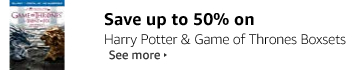 Save up to 50% on Harry Potter and Game of Thrones Boxsets