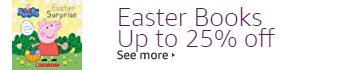 Save up to 25% off Easter Books