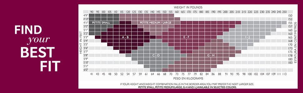 Pantyhose hanes pantyhose size chart