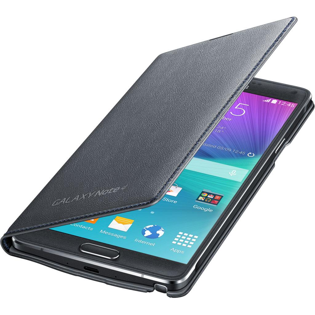Samsung Galaxy Note 4 LED Flip Cover, Charcoal Black ...