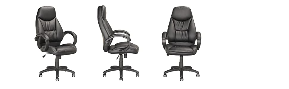 corliving black leatherette office desk chair. executive office chair by corliving corliving black leatherette desk h