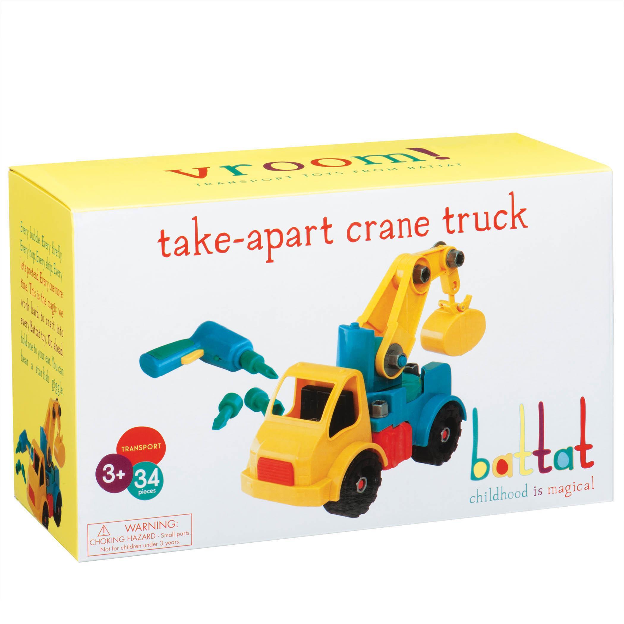 Battat Take Apart Crane Construction Toy Vehicle ...