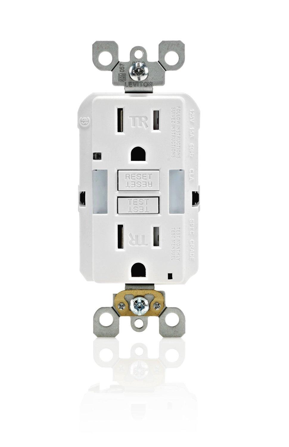 Leviton gfnl1 00w self test smartlockpro slim gfci tamper from the manufacturer sciox Choice Image