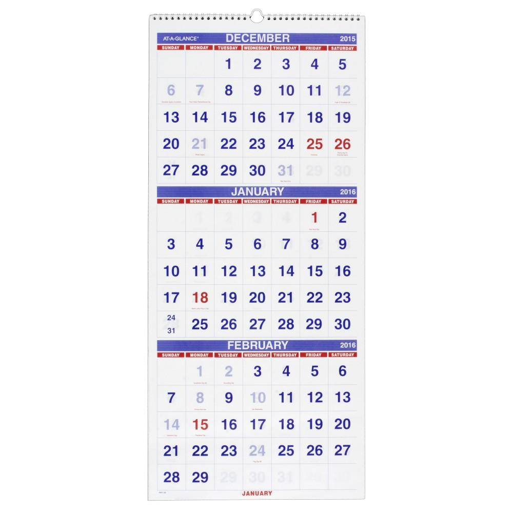 Hanging Planner Calendar : At a glance wall calendar vertical month