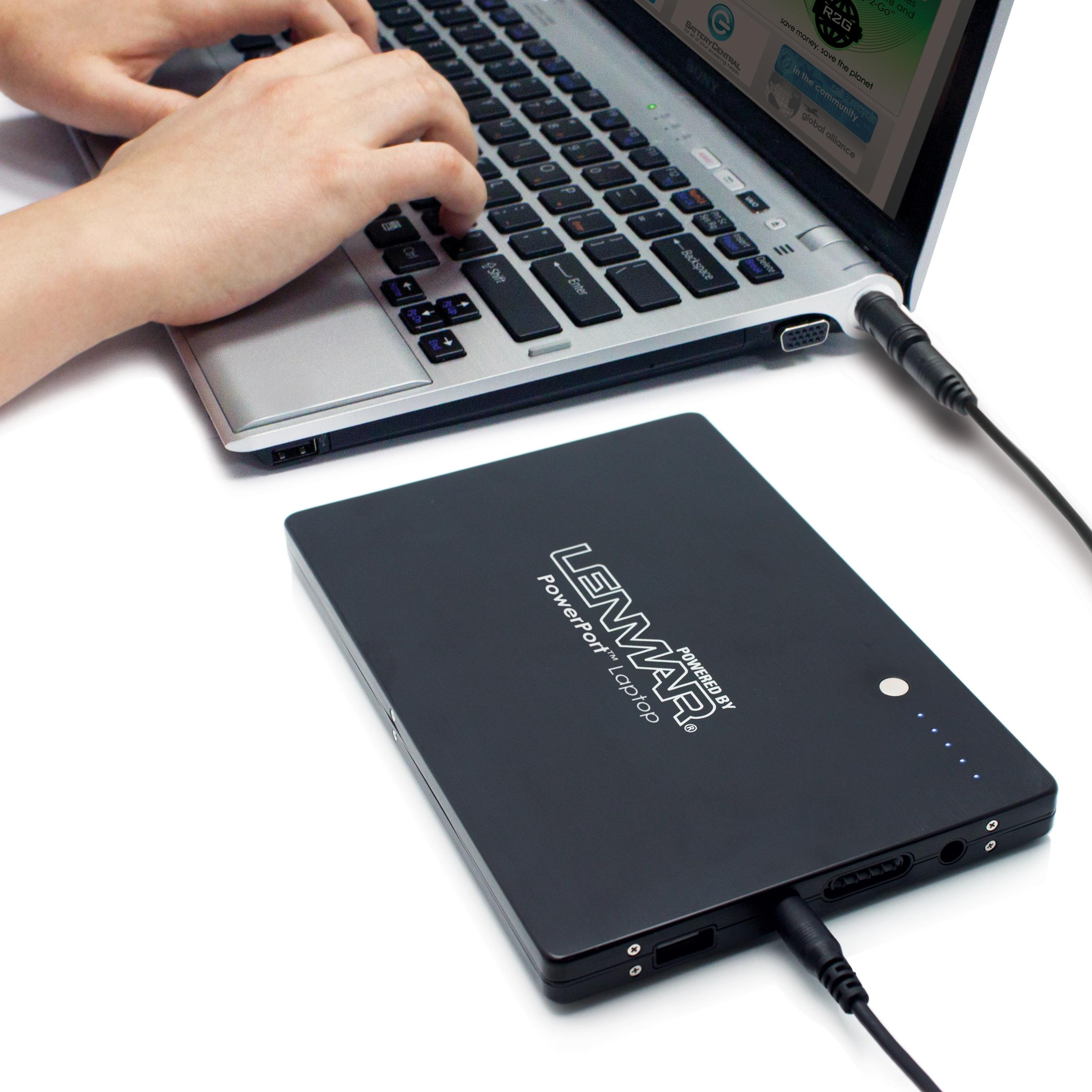 lenmar powerport notebook portable battery and charger ppu916rs computers tablets. Black Bedroom Furniture Sets. Home Design Ideas