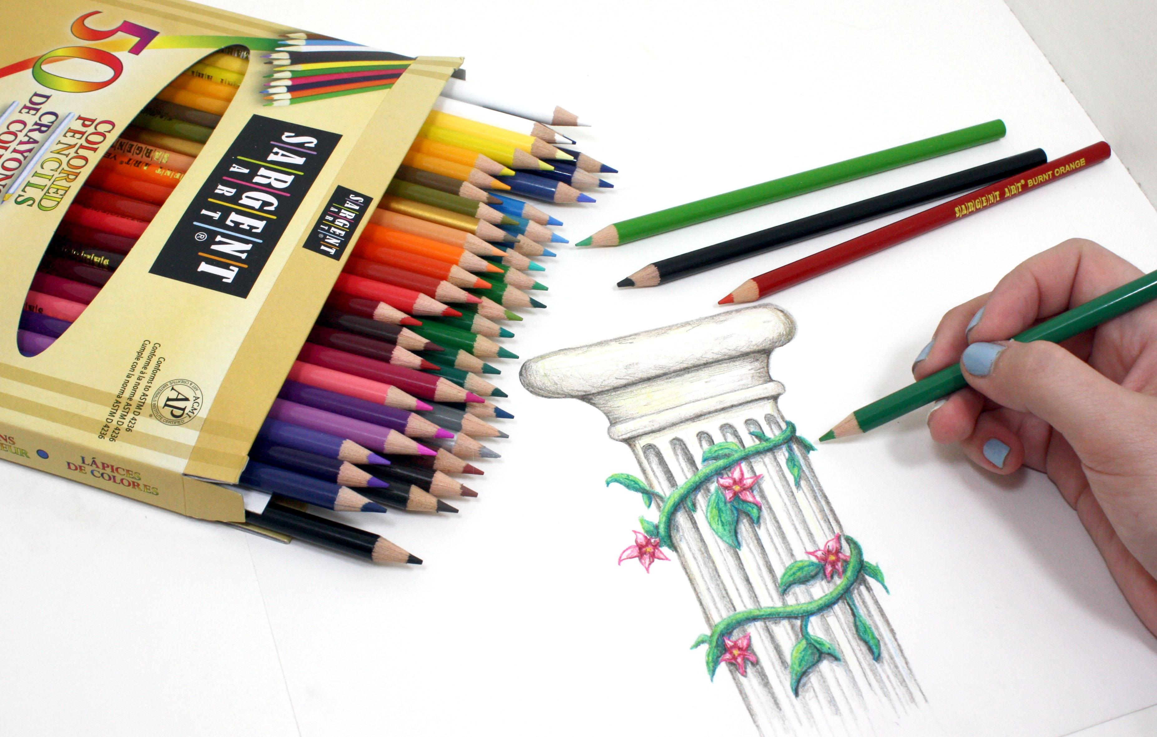 Sargent Art 22-7251 50 Count Assorted Colored Pencils: Accessory ...