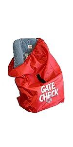 J L Childress Ultimate Car Seat Travel Bag Black 1