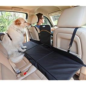 Kurgo Backseat Reversible Dog Bridge Car Extender Water