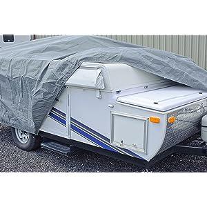 Budge RVRB-61 Gray Standard Folding Camper Polypropylene RV Cover