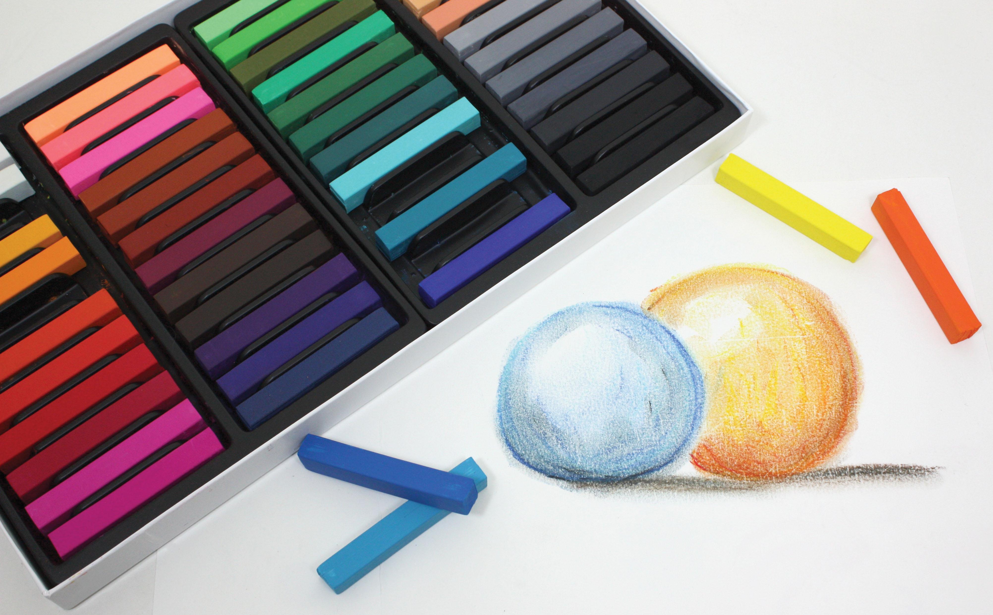 sargent art 22 4148 48 count colored square chalk pastels amazon ca