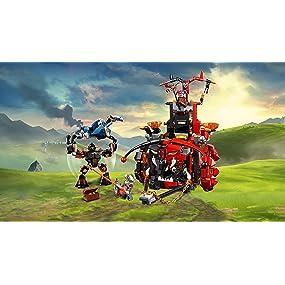 nexo knights jestro's evil mobile, sparkks, lance