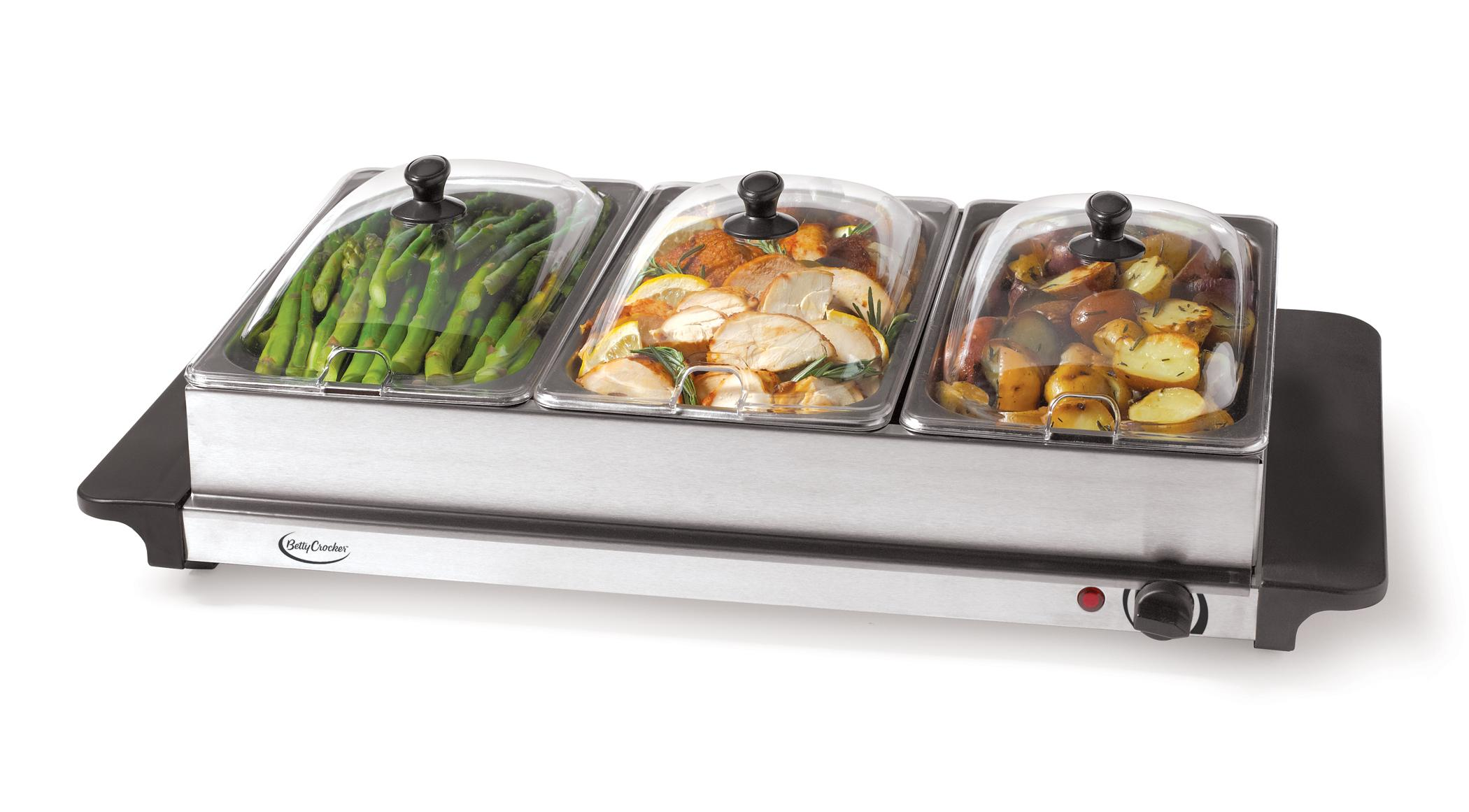 3 Tray Food Warmer ~ Betty crocker bc cm buffet server amazon home