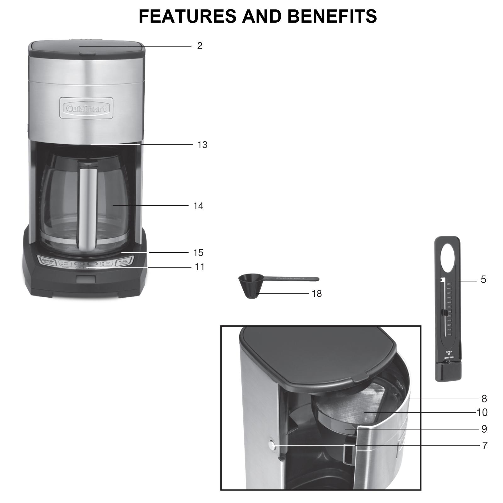 Cuisinart Extreme Brew 12cup Coffeemaker DCC-3650C - Ad#: 4951323 - Addoway
