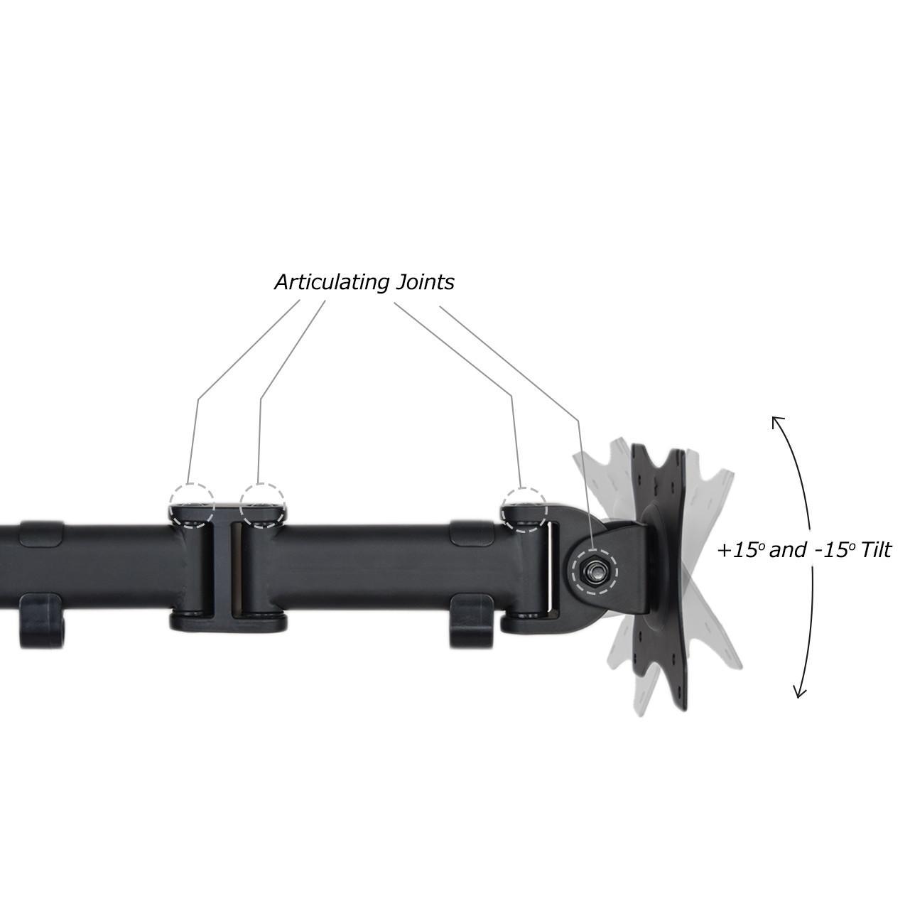 Vivo Single Monitor Desk Mount Fully Adjustable
